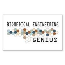 Biomedical Engineering Genius Rectangle Decal