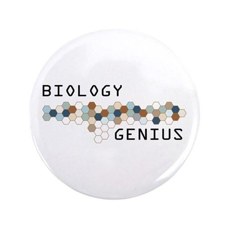 "Biology Genius 3.5"" Button"