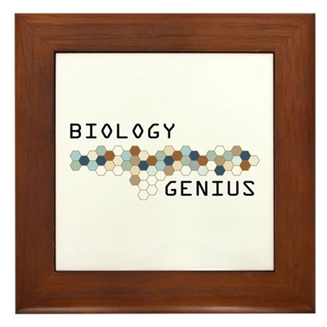 Biology Genius Framed Tile