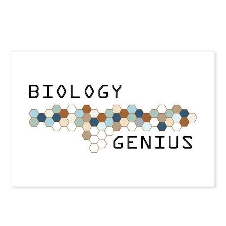 Biology Genius Postcards (Package of 8)