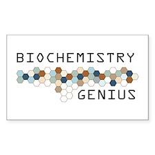 Biochemistry Genius Rectangle Sticker 10 pk)