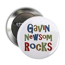 "Gavin Newsom Rocks 2.25"" Button"