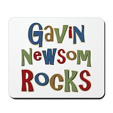 Gavin Newsom Rocks Mousepad