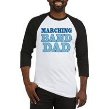 Blue Marching Band Dad Baseball Jersey