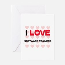 I LOVE SOFTWARE TRAINERS Greeting Cards (Pk of 10)