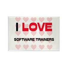 I LOVE SOFTWARE TRAINERS Rectangle Magnet