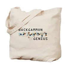 Backgammon Genius Tote Bag