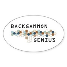 Backgammon Genius Oval Decal