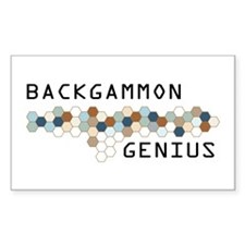 Backgammon Genius Rectangle Decal