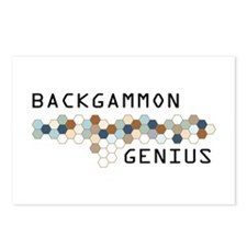Backgammon Genius Postcards (Package of 8)