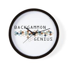 Backgammon Genius Wall Clock
