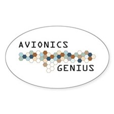 Avionics Genius Oval Decal