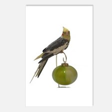 Cockatiel on ornament Postcards (Package of 8)