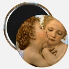 """First Kiss by Bouguereau 2.25"""" Magnet (10 pack)"""