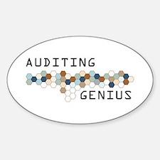 Auditing Genius Oval Decal