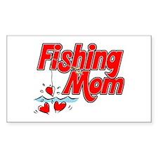 Fishing Mom Rectangle Decal