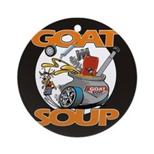 Cute Goat soup Ornament (Round)