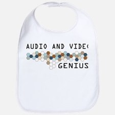 Audio and Video Genius Bib