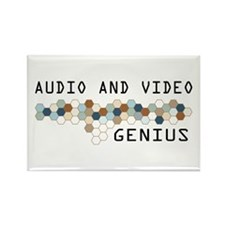 Audio and Video Genius Rectangle Magnet