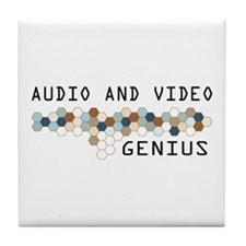 Audio and Video Genius Tile Coaster