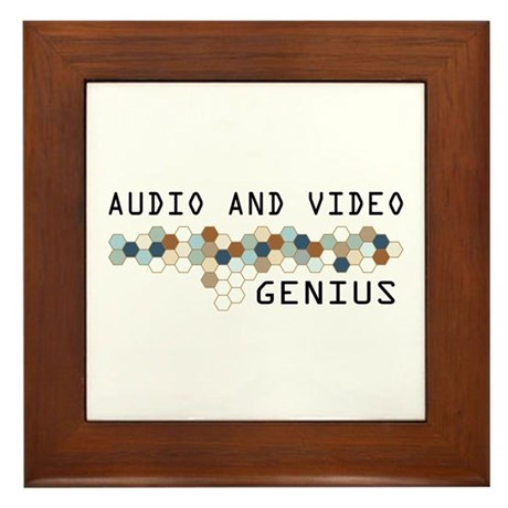 Audio and Video Genius Framed Tile