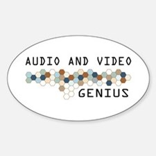 Audio and Video Genius Oval Decal