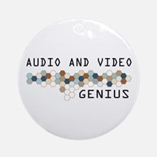 Audio and Video Genius Ornament (Round)