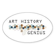 Art History Genius Oval Decal