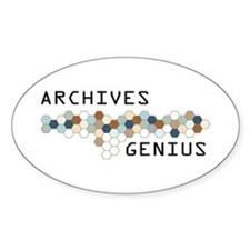 Archives Genius Oval Decal