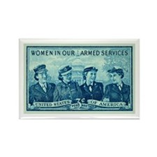 Cute Womens army corps Rectangle Magnet