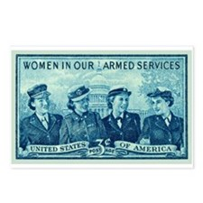 Cute Women's army corps Postcards (Package of 8)