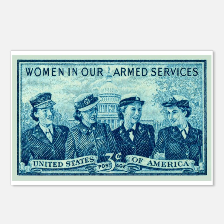 Cute Womens army corps Postcards (Package of 8)