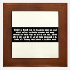 Morality Framed Tile