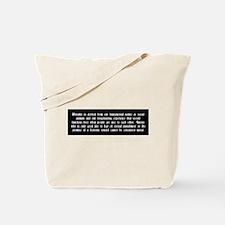 Morality Tote Bag