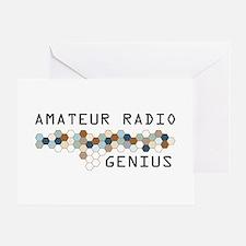 Amateur Radio Genius Greeting Card