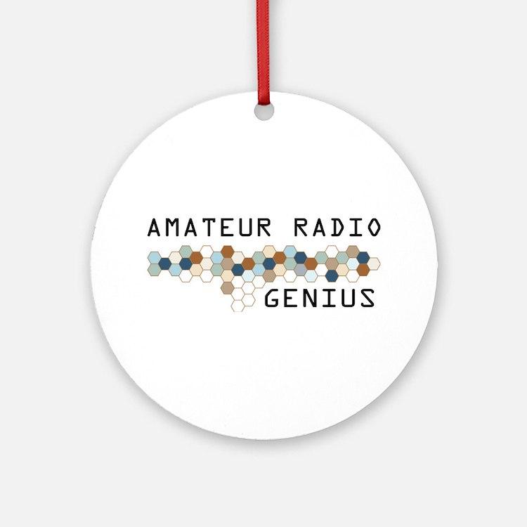 Amateur Radio Genius Ornament (Round)