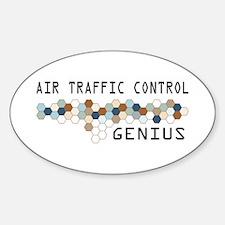 Air Traffic Control Genius Oval Decal