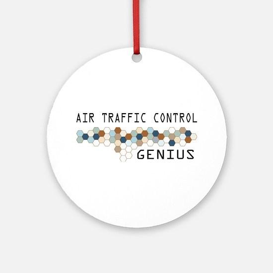 Air Traffic Control Genius Ornament (Round)