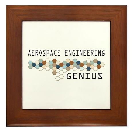 Aerospace Engineering Genius Framed Tile