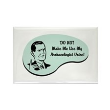 Archaeologist Voice Rectangle Magnet