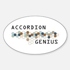 Accordion Genius Oval Decal