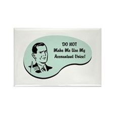 Accountant Voice Rectangle Magnet