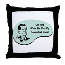 Accountant Voice Throw Pillow