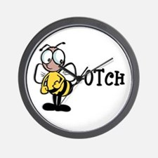 Beeotch (Bitch) Wall Clock