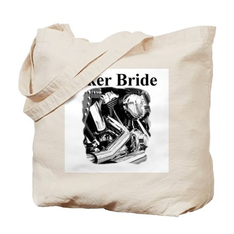 Biker Bride Tote Bag