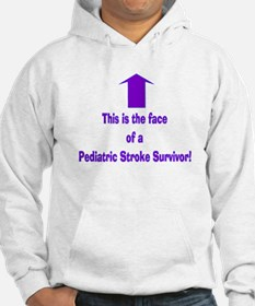 The face of pediatric Stroke Hoodie