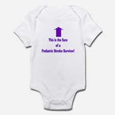 The face of pediatric Stroke Infant Bodysuit