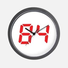 84 eighty-four red alarm cloc Wall Clock