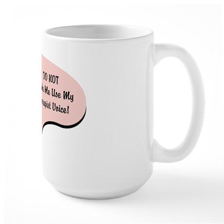 Therapist Voice Large Mug