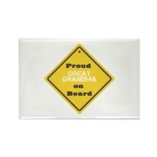 Proud Great Grandma on Board Rectangle Magnet